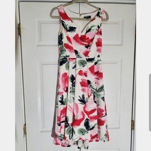 DKNY floral cocktail dress, size 4